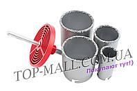 Набор корончатых сверл по плитке Intertool - 4 шт. (33, 53, 67, 73 мм)