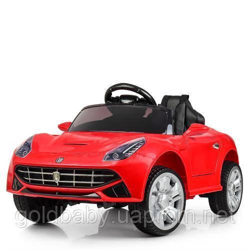 Детский электромобиль M 3176 EBLR-3 Ferrari, кожаное сиденье, красный