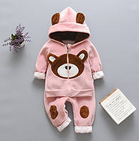 Теплый костюм Мишка розовый 3512