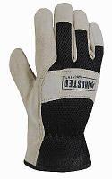 Мужские перчатки из натуральной кожи с черной сетчатой спинкой, размер L, фото 1