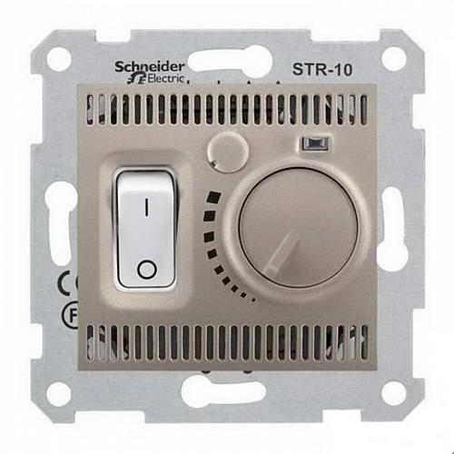 Термостат для теплого пола с датчиком Schneider Sedna Титан (SDN6000368)