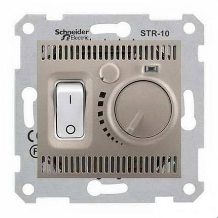 Термостат для теплого пола с датчиком Schneider Sedna Титан (SDN6000368), фото 2