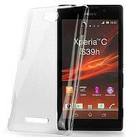 Чехол силиконовый Ультратонкий Epic для Sony Xperia C C2305 S39H Прозрачный