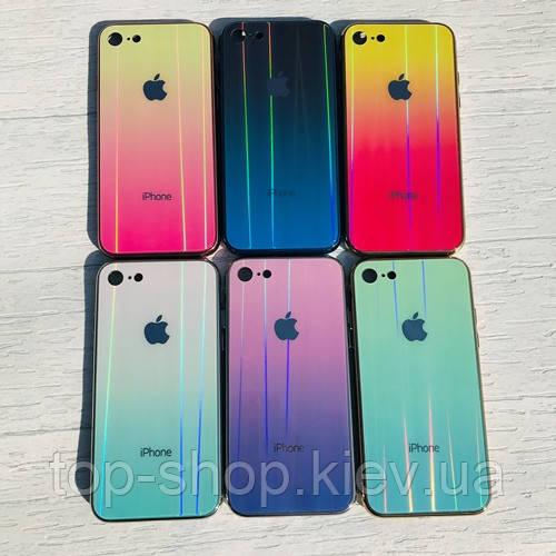 Чехол силиконовый с голограммой для iPhone 6, 6S, 7 (на айфон)