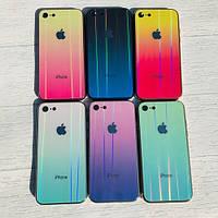 Чехол силиконовый с голограммой для iPhone 6, 6S, 7 (на айфон), фото 1