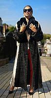 Шуба-плащ норковая. Модель Халат Крестовка-рекс 2002019100, фото 1