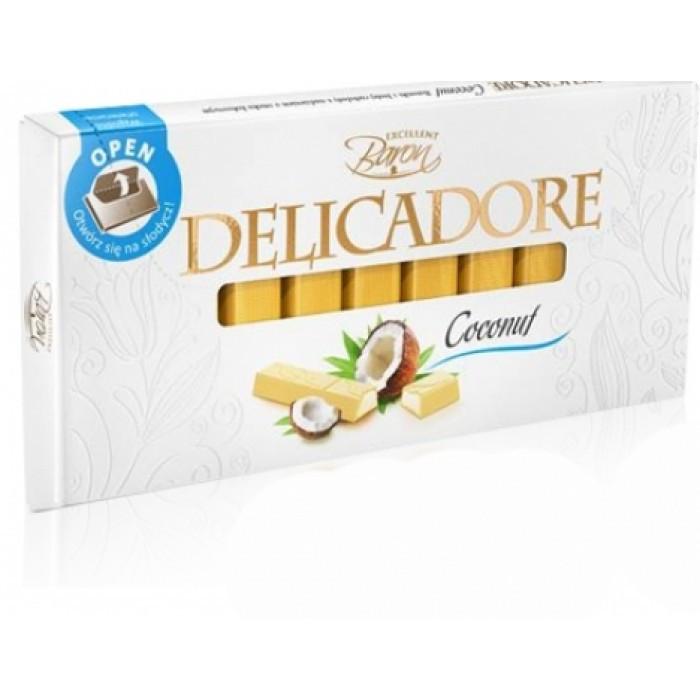 Шоколад порционный Baron Delicadore Кокос Польша 200г