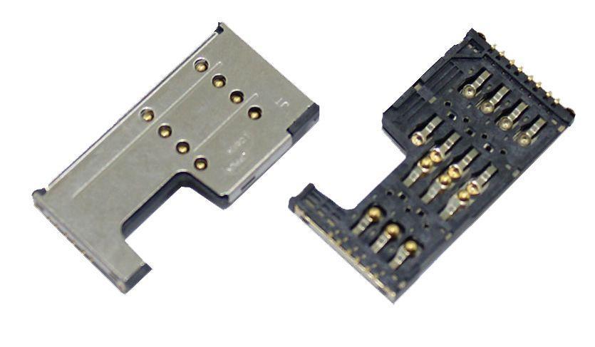 (Коннектор) Разъем SIM-карты Lenovo A1000