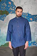 Мужская джинсовая рубашка-китель для повара
