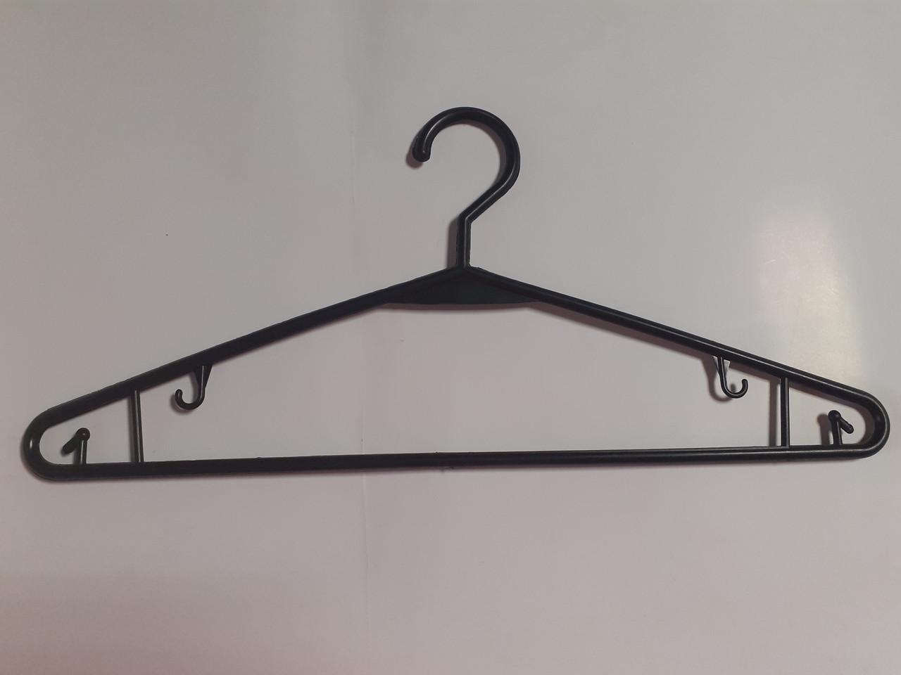 Пластиковые плечики, вешалки, тремпеля для взрослой одежды 40см жесткий крючок