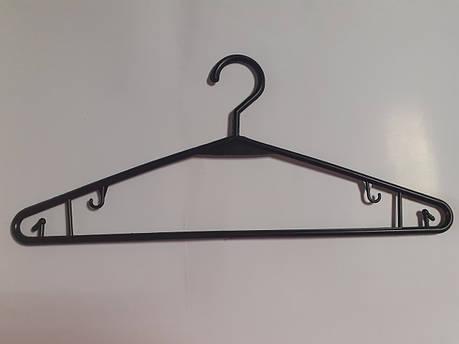Пластиковые плечики, вешалки, тремпеля для взрослой одежды 40см жесткий крючок, фото 2