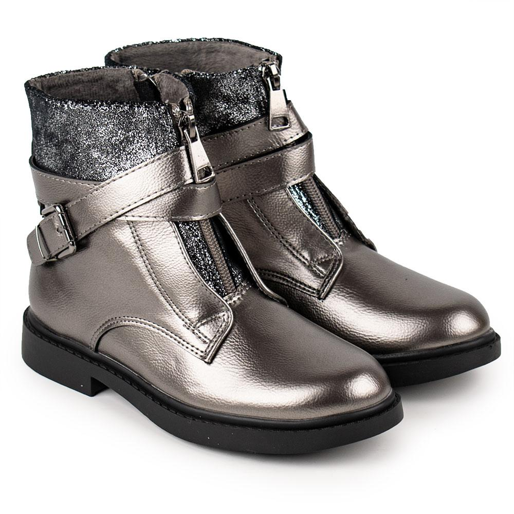 Ботинки для девочек Bessky 32  платина 980604