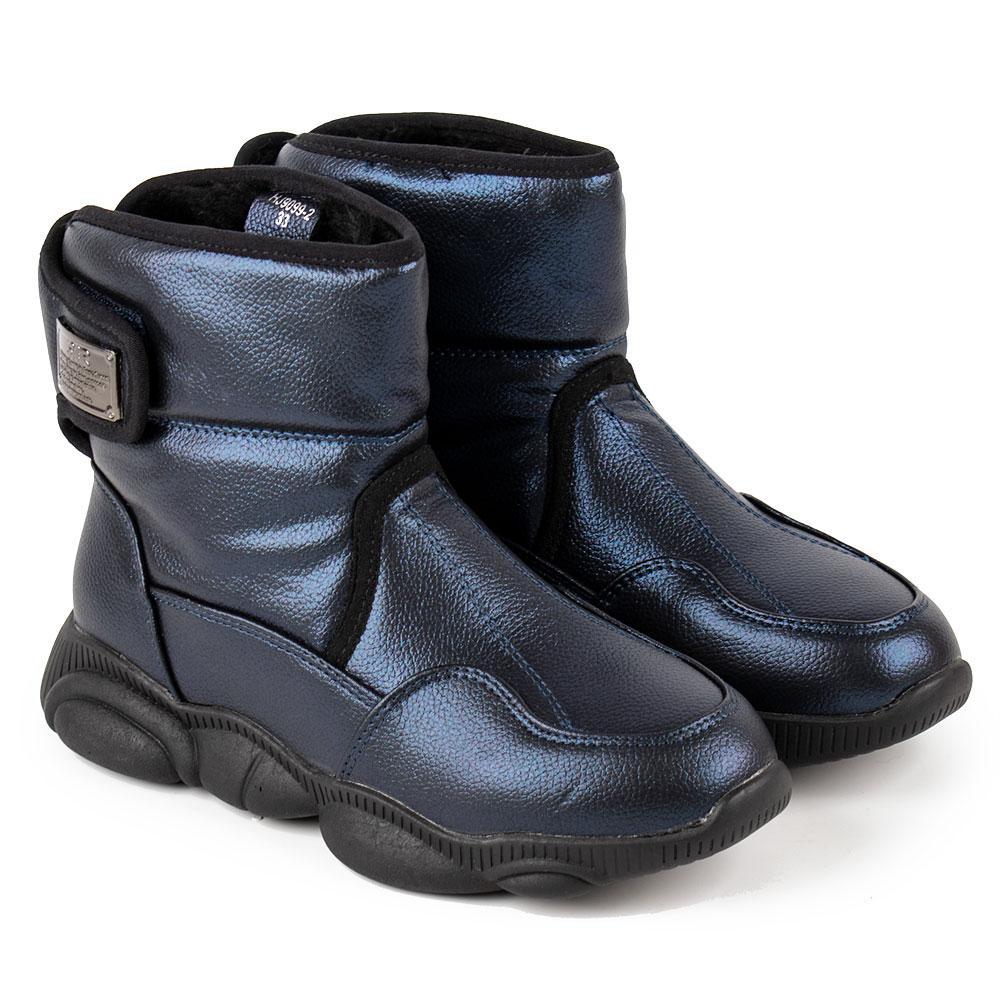Ботинки зимние для девочек Bessky 34  синий 980609
