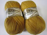 ANGORA GOLD 02 шафран - 20% шерсть, 80% акрил