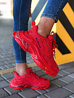 Женские кроссовки Balenciaga Triple S Red