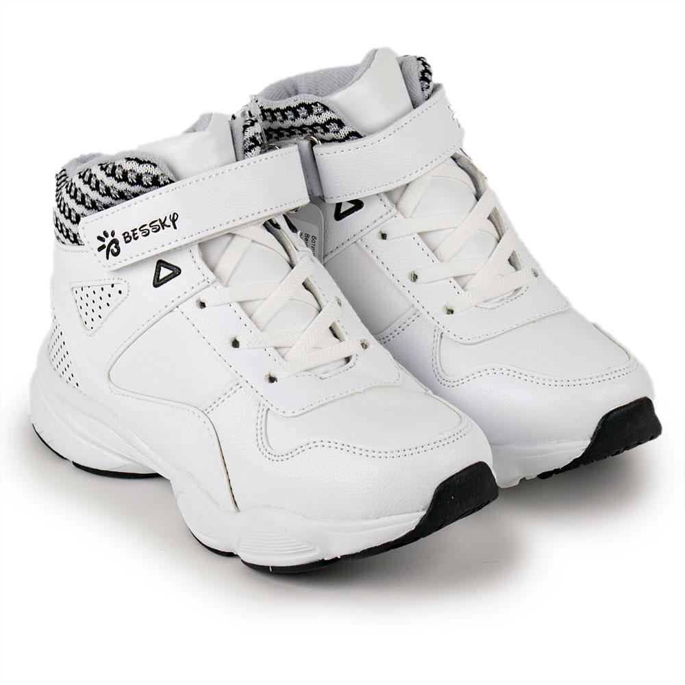 Ботинки зимние унисекс Bessky 32  белый 980620