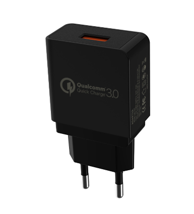 Зарядное устройство GS Charger EU / CE / Quick Charge 3.0 / 3A Черное