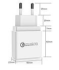 Зарядное устройство GS Charger EU / CE / Quick Charge 3.0 / 3A Черное, фото 3