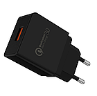 Зарядное устройство GS Charger EU / CE / Quick Charge 3.0 / 3A Черное, фото 2