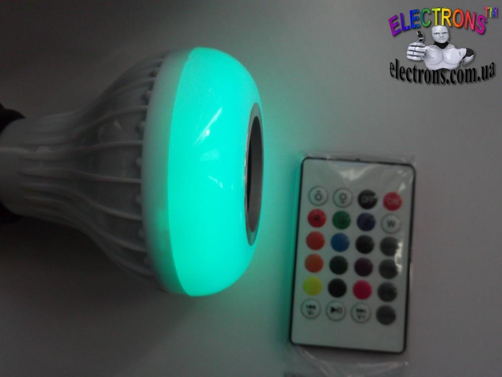 Bluetooth музыкальная лампа, аудио блютуз и светомузыка на пульте ДУ