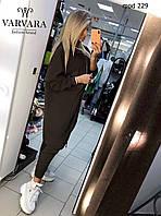 Костюм женский стильный чёрный 42-44, 44-46, 48-50, 50-52, фото 1