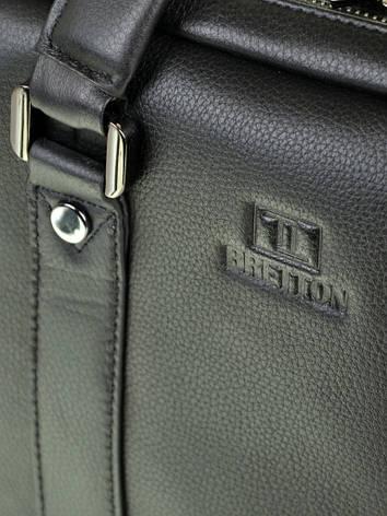 Сумка Мужская Портфель кожаный BRETTON BE 9318-2 черный, фото 2