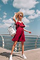 Лёгкое летнее платье (цвет - бордо, ткань - софт) Размер S, M, L (розница и опт)