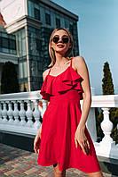 Яркое платье (цвет - красный, ткань - софт) Размер S, M, L (розница и опт)