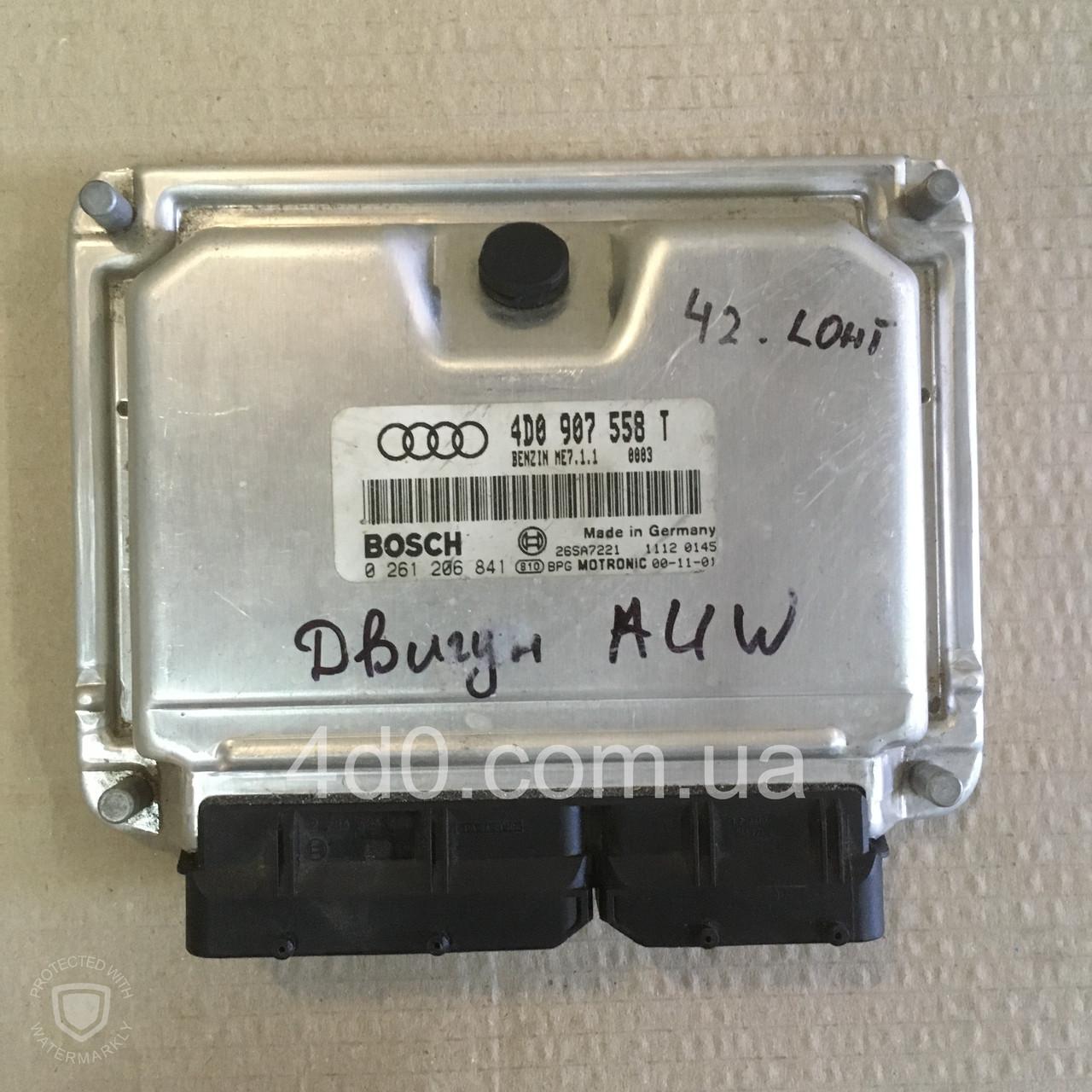 4D0907558T Блок управління двигуном на Audi A8 D2 4.2 AUW