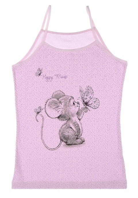 """Майка детская для девочки """"Счастливая мышка"""", 2-3 года (рост 98-104)"""
