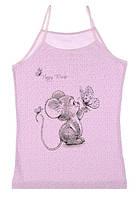 """Майка детская для девочки """"Счастливая мышка"""", 2-3 года (рост 98-104), фото 1"""