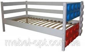 Детская односпальная кровать Легго-1 без ящиков, ясень