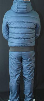 Зимний мужской костюм на синтепоне темно-синий, фото 2