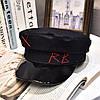 Женский картуз, кепи, фуражка CAP RB с лаковым козырьком черный