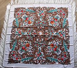 Платок білий в народному стилі (120х120)
