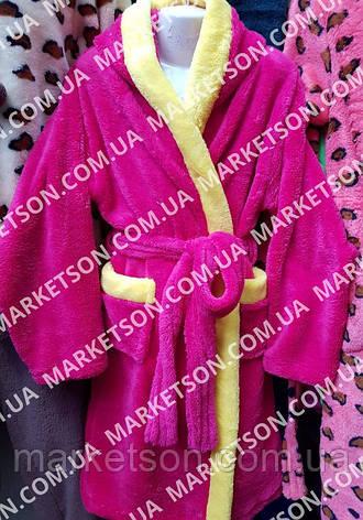 Детский махровый халат с ушками Зайка для детей от 4 до 6 лет, фото 2