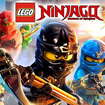"""""""Лего Ниндзяго: Красный"""" - Наклейка на Сок 6,5*8,5 см."""