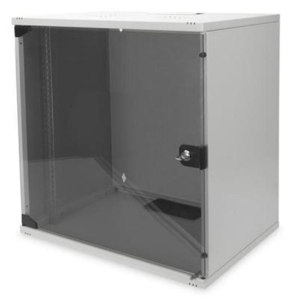 """Шкаф настенный DIGITUS 12U 19"""" 540x400, стекляные двери, 60kg max (DN-1912-U-S-1)"""