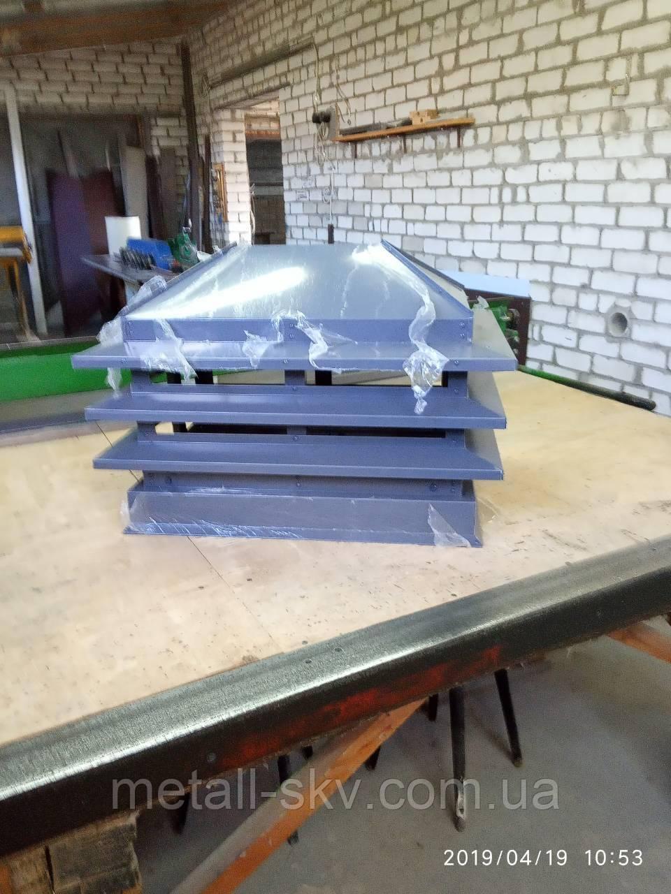 Ковпак для вентиляції і димоходу 520*520(ruukki 0.5 мм)