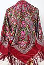 Платок бордовий в народному стилі (120х120), фото 2