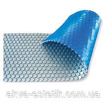 Солярне покриття AquaViva Platinum Bubbles, срібло/блакитний, 500 мікрон