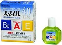 Витаминизированные глазные капли LION SMILE 40 EX 15ml Япония