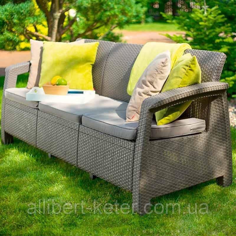 Corfu Love Seat Max садовая мебель из искусственного ротанга