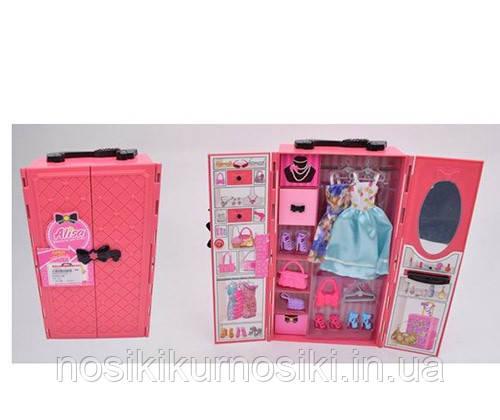 Меблі для ляльки типу Барбі Вбиральня (шафа), лялькова меблі, сукні, взуття, сумки