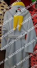 Дитячий махровий халат з вушками Зайка для дітей від 7 до 9 років, фото 2