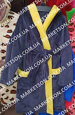 Дитячий махровий халат з вушками Зайка для дітей від 7 до 9 років, фото 3