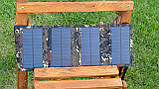 Солнечная батарея раскладная 10 Ватт 5 Вольт, портативное солнечное зарядное устройство, фото 7