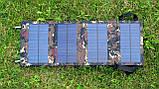 Солнечная батарея раскладная 10 Ватт 5 Вольт, портативное солнечное зарядное устройство, фото 8