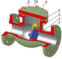 Клапан обратный поворотный SYNKLAD SYN KS L10 PN 16