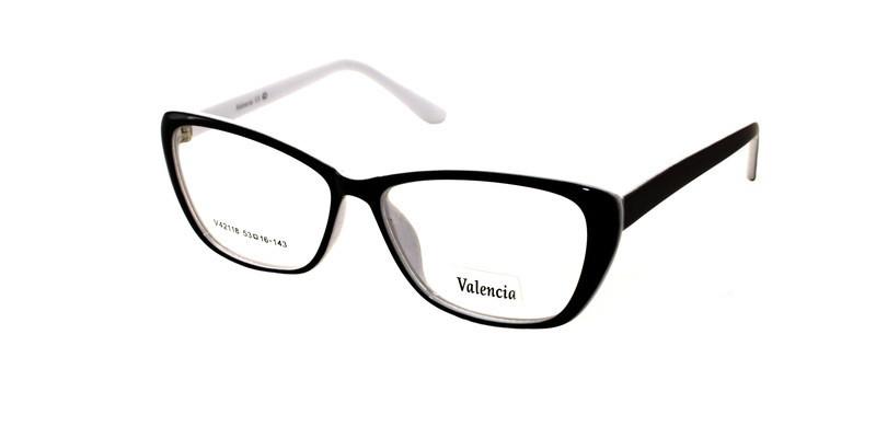 Оправа черно-белая для очков Valencia